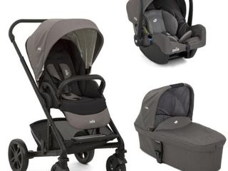 Carucior multifunctional 3 in 1 Joie Chrome Foggy Gray