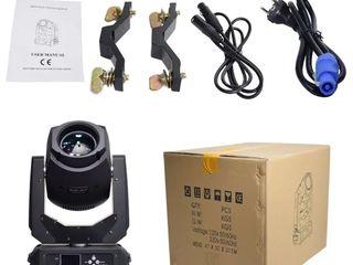 Lumini Beam Spot 2 in1 LED 200 Watt profesionale capuri rotative în huse speciale 4 unități cadou !
