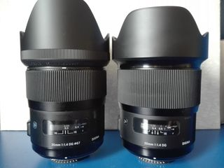 Продам sigma 35 mm 1.4 art  и  20 mm 1.4 art. Для Никон.