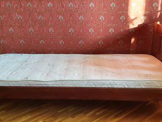 Кровать из дерева (Грета) цвет орех + Матрасс б/у