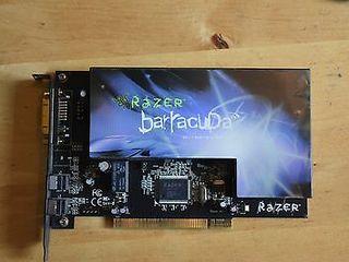 Razer Barracuda AC-1 Gaming Audio Card, 7.1 Channels, PCI, S/PDIF, HD-DAI HI END