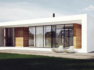 Одноэтажный дом в стиле минимализм.