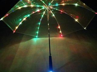 Зонт с LED подсветкой и фонарем! Полезен переходя дорогу по зебре!
