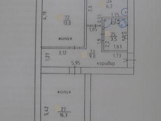 Двухкомнатная квартира с мебелью 3-этаж/5, центр, ул. Мичурина дом 39, 16000 Евро