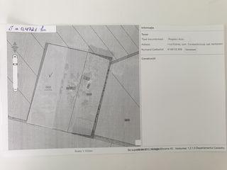 Teren pentru construcții S = 0, 4721 ha