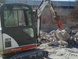 Демонтаж бетонных конструкций,. Снос старых построек гидромолот