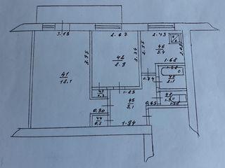Apartamentul cu 2 odăi