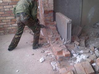 Демонтажные работы. снос стен, перегородок, стяжки