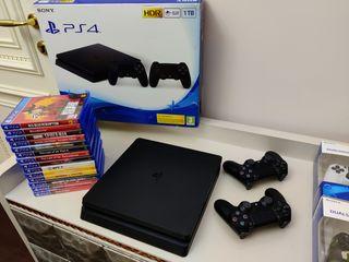 Playstation 4 Slim 1TB + PS PLUS + ИГРЫ