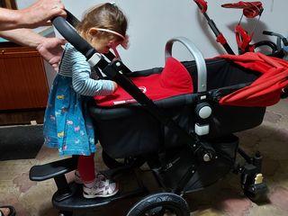 Vind remorca cu roti pentru carucior pentru al doilea copil, adaptor, борд для коляски