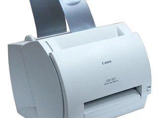 Ч/б лазерный принтер б/у Canon LBP-810=550лей. USB подключение