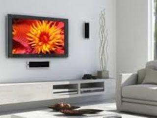 Монтаж ТВ на стену професионально. Montare TV perete profesional.