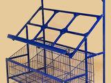 Металические стелажи для овощного магазина б.у Стелаж Stelaj Rafturi оборудование для магазина