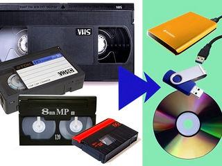 Перезапись  кассет, оцифровка
