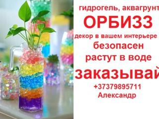 Шарики Орбиз Orbeez (гидрогель, аквагрунт) 1000 шт. Доставка почтой по Молдове.