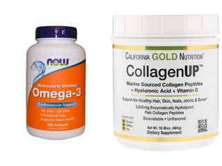 Коллаген UP, Рыбий жир Омега-3, Витамины, Масло Арганы, Кальций, Магний, Зубная щётка, мазь от акне