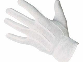 Rmicro / Bustard перчатки белые для официантов с ПВХ
