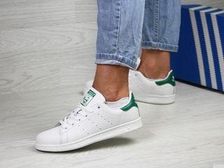 Adidas stansmit  white -green din piele