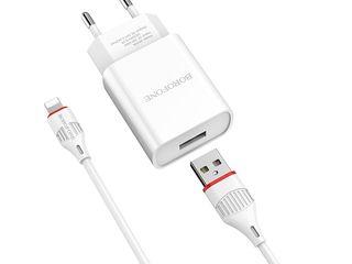 """Incarcator Calitativ BA20A Sharp single  +Cablu Lighting+Garantie +Livrare"""