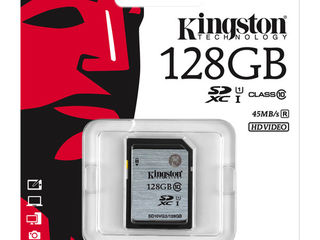 Абсолютно новая SD card на 128 Gb Kingston. Оригинал.На фото она.
