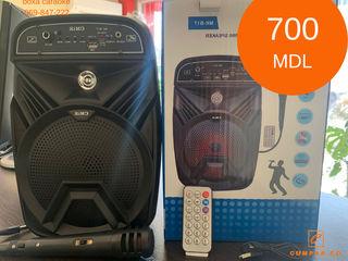 Boxă karaoke portabilă + LED