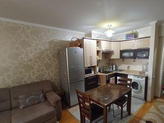 Apartament cu 1 odaie + living, incalzire autonoma, bloc nou, euroreparatie.