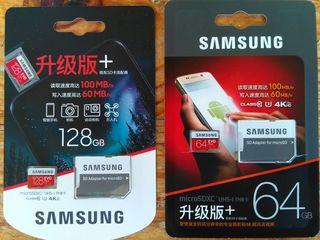 Micro SD Samsung Evo Plus 64/128 Gb. 250/450 lei. Original.
