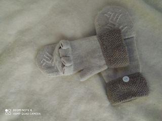 Зимние новые перчатки теплые натуральная шерсть