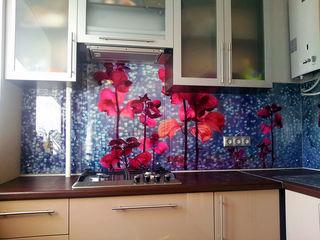 Шкафы  стеклянный фартук 700 lei m liniar , гарантия на рисунок 8 лет , фартук кухонный