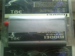 Инвертор 1300 watt dc 12v- 220v испытано держит 900 вт. 1550 лей сварочная маска хамелеон 350 лей