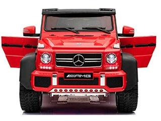 Vehicul cu acumulator și telecomandă pentru copii Mercedes Benz Red