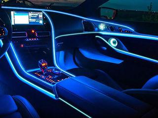 Neon Flexibil pentru auto LED Salon,Гибкая неоновая led лента 2m 12v