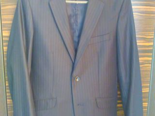 костюм тройка темно-синий