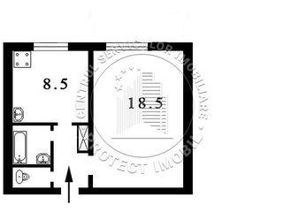 Urgent, apartament de 40m2, tip garsoniera, mare