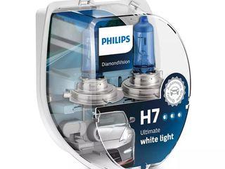 Philips Diamond Vision 5000K, Xenon Efect, LED Efect 4300K Lampi auto  Livrare