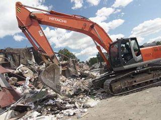 Услуги спецтехники снос домов строений очистка участков территории разрушение бетона бетоновырубка