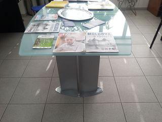столы стеклянные раздвижные Италия
