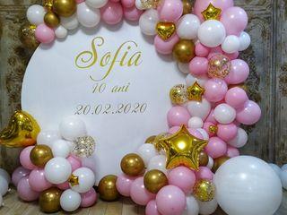 La cumătrii decor cu baloane крестины оформление воздушными шарами