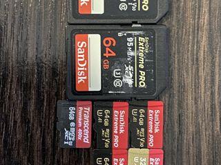 Microsd Sandisk extreme pro 64gb SD и MicroSD личные, перешел на cfast и лежат без дела...