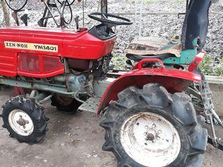 Vînd tractor japonez yanmar 1401cu freză şi remorcă.