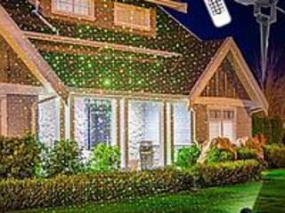 Лазерная гирлянда для дома star shower с пультом