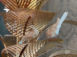 Стойка с листьями - стильный аксессуар для украшения интерьера или экстерьера