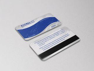Пластиковые карты c магнитной лентой.