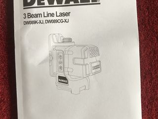 DEWALT DW089K Self-Leveling 3-Beam Line Laser Levelling Leveler