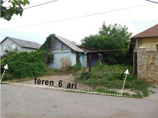 Teren 6 ari + casă de locuit (sub demolare) în or. Cricova!