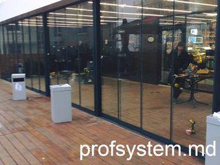Sistem cu sticla securizată călită