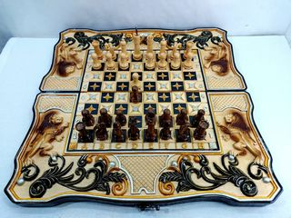 В наличие нарды резные шахматы картина*Львы*эксклюзив