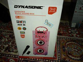 dynasonic karaoke music sound box e-025 cu 2 microfoane