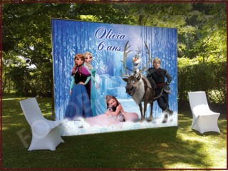 Fotopanou, decor cu baloane, foto stand, panou, pinza pentru cumatrie, zi de nastere, botez