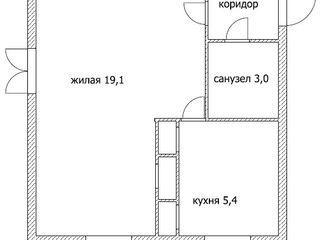 1-комнатная квартира в Тирасполе, возле сквера Авиаторам (1-ая Каховская)
